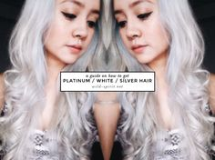 how to get platinum white silver hair