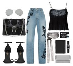 """""""Street style"""" by sxpphie ❤ liked on Polyvore featuring Jonathan Simkhai, Chanel, Yves Saint Laurent, Gucci, Fallon, Acne Studios, STELLA McCARTNEY and Muji"""