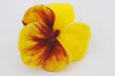 Wet Felted Pansy