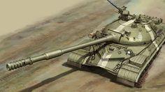 Tanque pesado T-10, construido a partir de 1953, 52 t, armado con una pieza de 122 mm y con un blindaje que alcanzaba los 250 mm (más que un crucero de batalla clase Lion, por ejemplo...). Más en www.elgrancapitan.org/foro