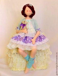 Коллекционные куклы ручной работы. Ярмарка Мастеров - ручная работа Нина. Девочка с мишкой. Handmade.