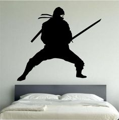 NInja Wall Decal NINJA STANCE Sticker Art Decor Bedroom Design Mural vinyl karate kids room home decor room decor wall mural SWORD by StateOfTheWall on Etsy https://www.etsy.com/listing/237358523/ninja-wall-decal-ninja-stance-sticker