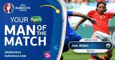 Joe Allen Man of The Match  #euro2016 #wales #winer
