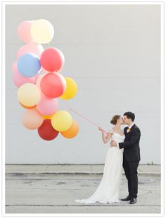 balloons as wedding decor