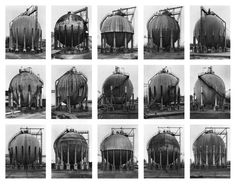 """""""Gas Tanks"""" Photographed by Bernd and Hilla Becher"""