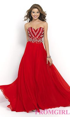 Floor Length Strapless Sweetheart Dress by Blush at PromGirl.com