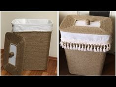 Rope Crafts, Diy Home Crafts, Canvas Painting Tutorials, Cardboard Crafts, Sisal, Fall Diy, Craft Storage, Laundry Basket, Diy Furniture