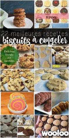 voici 22 recettes de biscuits à congeler pour prendre un peu d'avance dans ta vie de fou! Lâche pas maman/papa Diet Recipes, Snack Recipes, Cooking Recipes, Healthy Recipes, Snacks, Bon Dessert, Get Thin, Kinds Of Cookies, Batch Cooking