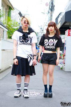 Fashion Walk, Tokyo Fashion, Harajuku Fashion, Fashion Men, Tokyo Street Style, Street Style Trends, Japan Street, Man Skirt, Harajuku Girls