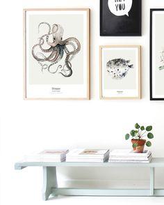 Ocean // Octopus | My Deer Art Shop 😽㊙️Octopus 🐬🐡👎🏽 : More Pins Like This At FOSTERGINGER @ Pinterest 🐌🐬🐡