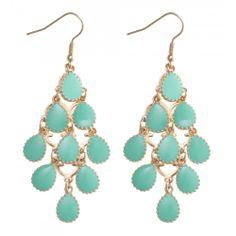 Drop Graduated Earrings in GREEN #15341 - colette by colette hayman