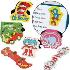 Dr. Seuss Magnetic Bookmarks