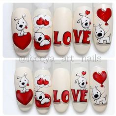 Make an original manicure for Valentine's Day - My Nails Trendy Nails, Cute Nails, My Nails, Nail Art Designs Videos, Nail Art Videos, Holiday Nails, Christmas Nails, Animal Nail Art, Valentine Nail Art