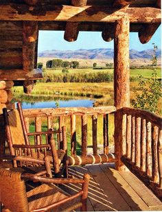 I would have a big wood dinner table on this porch and have breakfast with my family every Saturday in my perfect world