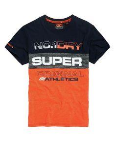 Mens - Trophy Neon T-Shirt in Radiant Orange Create T Shirt Design, Sport Shirt Design, Shirt Print Design, Boys T Shirts, Sports Shirts, Superdry Style, Spring T Shirts, T Shirt Painting, Mens Jogger Pants