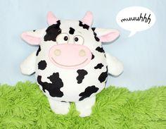 "Nähanleitungen Kind - Schnittmuster Stofftier Kuh ""Laurella&quot... - ein Designerstück von kullaloo bei DaWanda"