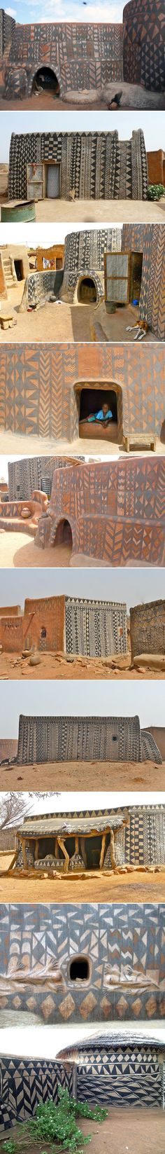 Painted in Burkina Faso Houses - Journal of Design