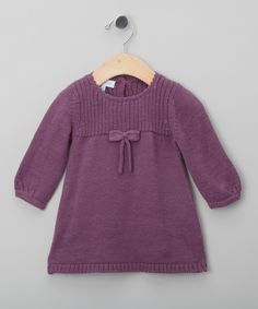 Purple Knitted Dress - Infant, Toddler & Girls
