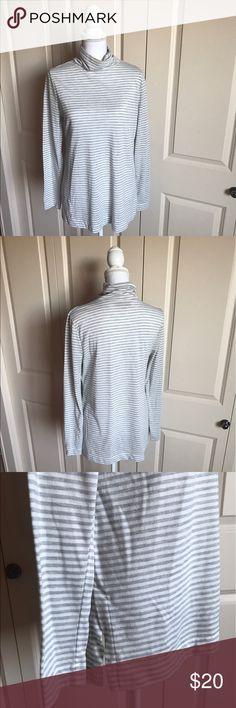 [ l o f t . c o w l . n e c k . s w e a t e r ] Super comfy striped loft cowl neck! Great condition! Long and cozy! LOFT Sweaters Cowl & Turtlenecks