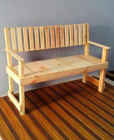 wooden pallet bed