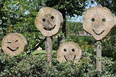 This got me thinking about ways of portraying emotions in the garden as a conversation starter. Garden Crafts, Garden Projects, Garden Art, Wood Projects, Sensory Garden, Garden Ornaments, Land Art, Amazing Gardens, Garden Inspiration