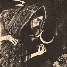 Dark illustrations inspired by myth, folklore and magick by Glyn Smyth