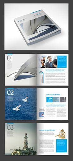 Multi-purpose Square Brochure by (via Creattica) design layout Brochure Templates from GraphicRiver Brochure Indesign, Template Brochure, Brochure Examples, Brochure Layout, Flyer Template, Web Design, Layout Design, Print Layout, Mise En Page Magazine