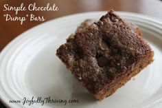 Simple and Delicious Chocolate Dump Bars - When you are in the mood for chocolate, here's a recipe where you can dump everything in a bowl and end up with a delicious chocolate treat.