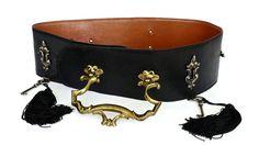 Vintage MOSCHINO REDWALL Door Knocker Tassel Belt