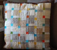 Cute pillow, love the hand quilting