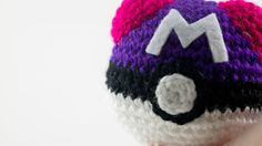 Pokeball Master Ball Pokemon crochet amigurumi by Chikai on Etsy