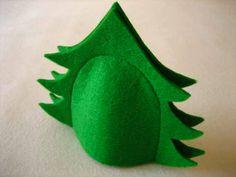 Eierwärmer, grün aus Filz