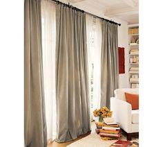 Velvet Drape- covering a sliding glass door in a better way than vertical blinds.