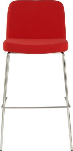 "charlie red 30"" bar stool    CB2"