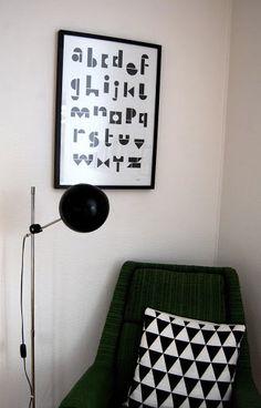 Via RareRina | Black and White | Geometric Pillow | Snug Studio Alphabet Poster