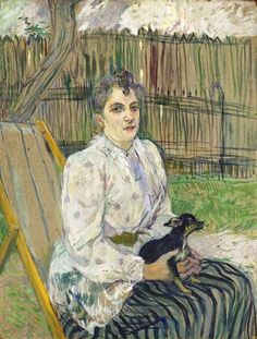 Henri de Toulouse-Lautrec - Lady with a Dog, 1891.