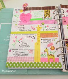 Coloursnme: Giraffe inspired week in my Kikki-K large leather time planner