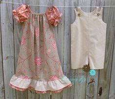 Brother and Sister Matching Outfits  by twosistersoriginals, $56.00