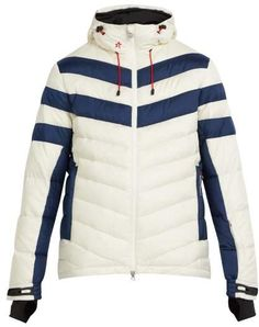 8d7c840d567 Perfect Moment - Chatel Hooded Quilted Down Ski Jacket - Mens - White Multi  Down Ski