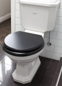 Perrin & Rowe Art Deco toilet on ArchiPro Bathroom Styling, Bathroom Interior Design, Casa Rock, Floor Outlets, Toilet Suites, Traditional Toilets, Black Toilet, Shower Fittings, Art Deco Bathroom