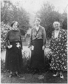 Eleanor Roosevelt, Elinor Morgenthau, and Jane Addams 1929