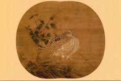 鶉図 (伝)李安忠筆/南宋時代/国宝/根津美術館蔵
