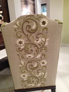 Now this is a dining chair back.. Love! at Ambella Home