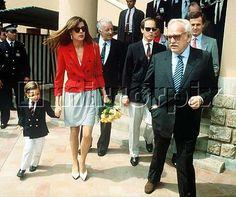 Caroline with little Andrea, Albert, Rainier and Stefano Casiraghi in the 80's