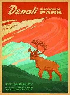 Denali National Park ~ Classic American Travel Posters