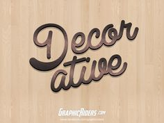 GraphicRiders | Retro style – Decorative (free photoshop layer style, text effect) #graphicriders #texteffect #layerstyle #freebies