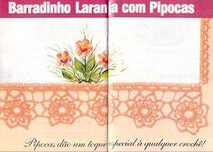 Puntillas - Ana Garcia - Álbuns da web do Picasa...Very pretty flowered edging for towels!... Free diagrams for crocheting!