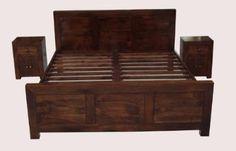 £349.99 Dakota Double Bed Frame Dark Shade