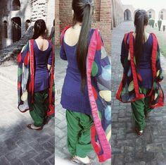 Salwaar r always In fashion in India..