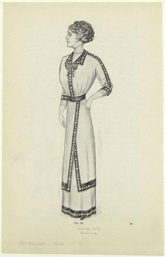 [Woman in dress, United States, 1910s.] From International library of technology : a series of textbooks . . . in the engineering professions and trades. 1912